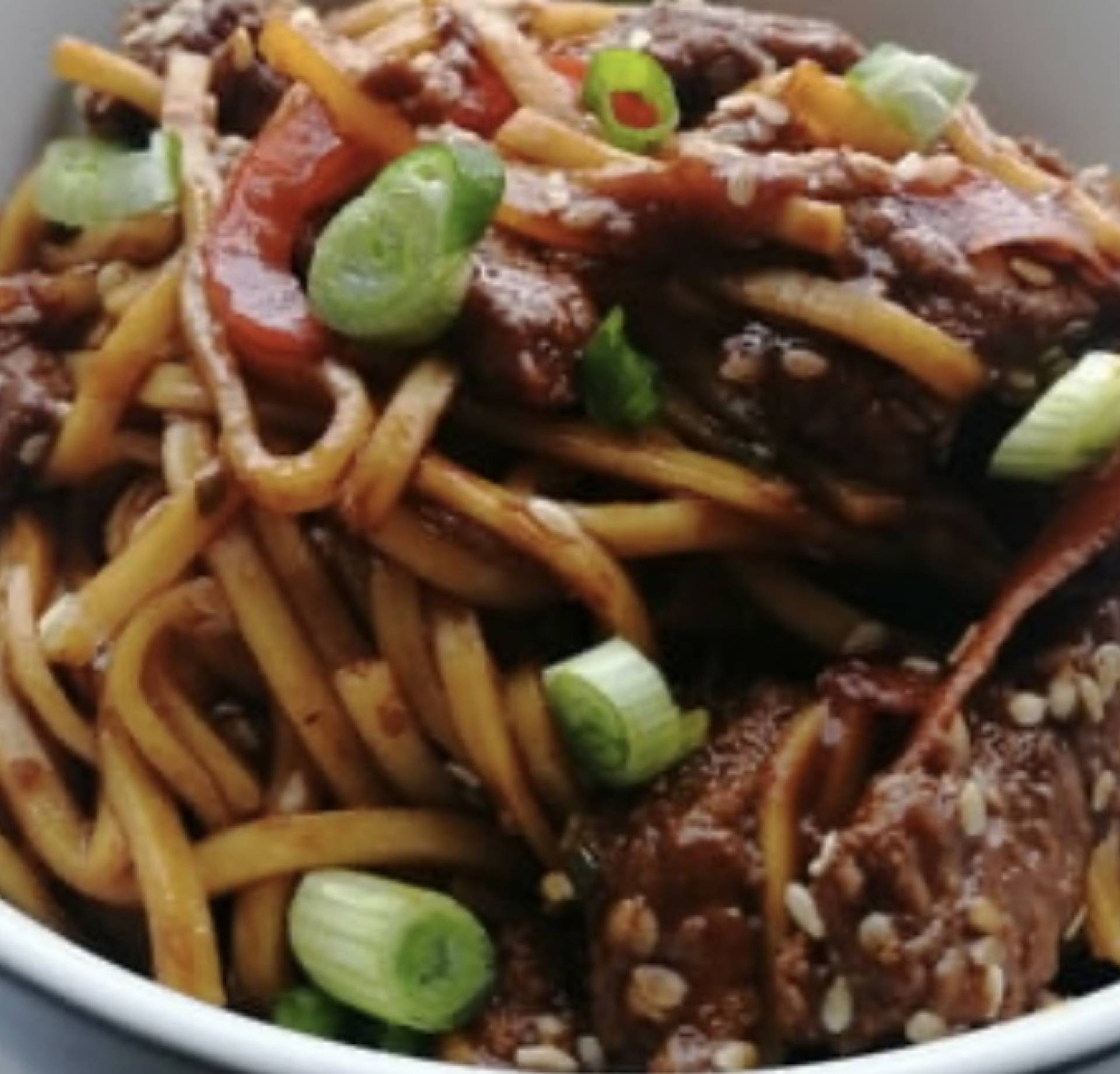 Sweet Chilli Beef & Noodles